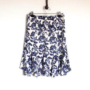 Dresses & Skirts - Gorgeous, Blue, Floral Linen-Like Skirt Size 4